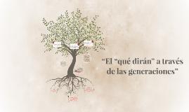 """""""El """"qué dirán"""" a través de las generaciones"""""""