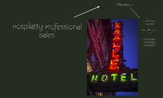 Professional Hospitality Sales
