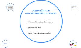 COMPAÑÍAS DE FINANCIAMIENTO LEASING