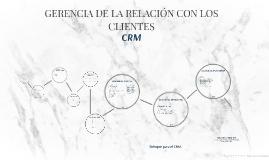 """CRM """"Gerencia de la administración con los clientes"""""""