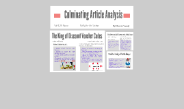Culminating Article Analysis