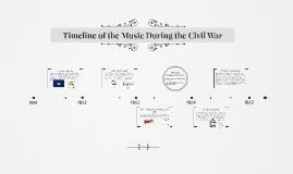 Civil War Music Timeline