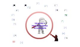 Copy of Copy of TECNICAS Y PROCEDIMIENTOS DE AUDITORIA