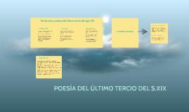 POESÍA DEL ÚLTIMO TERCIO DEL S.XIX