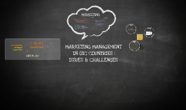 MARKETING MANAGEMENT IN OIC COUNTRIES