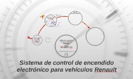 Sistema de control de encendido electrónico para vehículos R