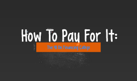 How To Pay For It: The 411 On Financing College