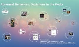 Abnormal Behaviors: Depictions in the Media