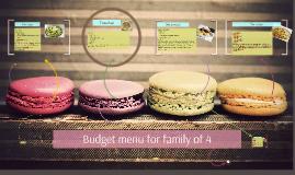 Budget menu for family of 4