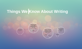 Things We Know About Writing