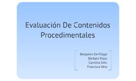 Evaluacion De Contenidos Procedimentales