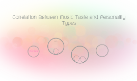 Correlation Between Music Taste and Personality Types