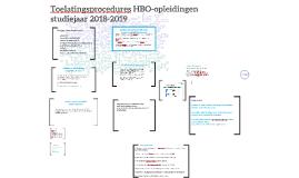 Toelatingsprocedures HBO- en WO-opleidingen m.i.v. studiejaa