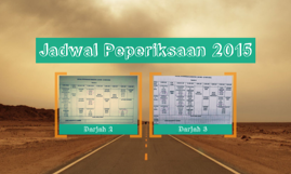 Jadwal Peperiksaan 2015
