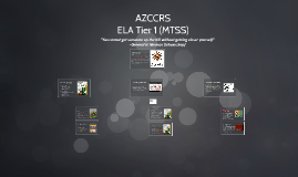 ELA Tier 1 MTSS