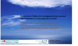 Copia de 131117 Investigación e Innovación en Salud en H2020