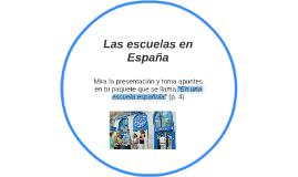 Las escuelas en España