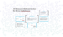AP Research Methods Section