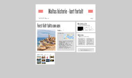 Maltas historie - kort fortalt