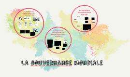 ECO 2 Thème 6 La gouvernance mondiale
