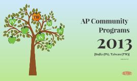 Asia Pacific Community Programs 2013 (Part 2)