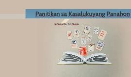 Copy of Panitikan sa Kasalukuyang Panahon