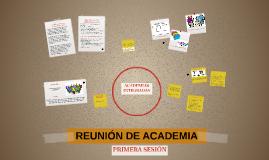 REUNIÒN DE ACADEMIA