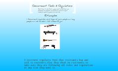 Goverment  Tools & Regulations
