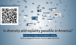 Is diversity and equality possible in America?