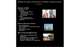 Module 10 Lesson 1 Assignment 2: Modern America Poster