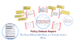 Policy Debate Report