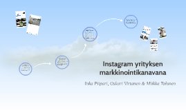 Instagram markkinointikanavana