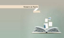 Memory in Poetry
