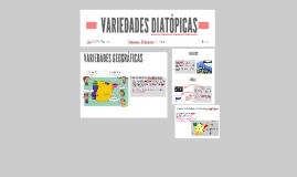 VARIEDADES DIATÓPICAS