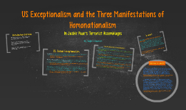 US Exceptionalism and the Three Manifestations of Homonation