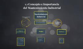 Copy of 1.1 Concepto e Importancia del Mantenimiento Industrial