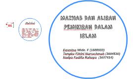 MAZHAB DAN ALIRAN PEMIKIRAN DALAM ISLAM