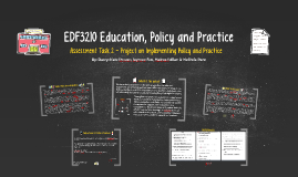 EDF3210 Education, Policy and Practice