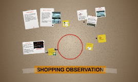 SHOPPING OBSERVATION