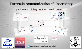 Uncertain communication of Uncertainty