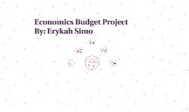 economics budget project