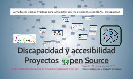 Discapacidad y accesibilidad. Proyectos Open Source.