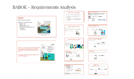 Business analysis planning and monitoring