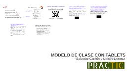 MODELO DE CLASE CON TABLETS