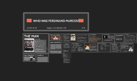 WHO WAS MARCOS?