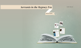 Servants in the Regency Era