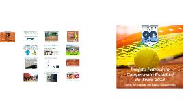 Projeto Patrocínio Campeonato Estadual de Tênis 2018