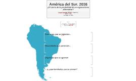 América del Sur. 2016