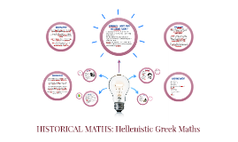 Hellenistic Greek Period of Mathematics