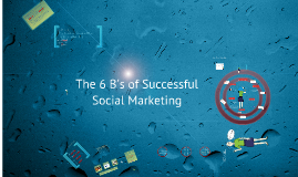 6 Bs of Successful Social Marketing